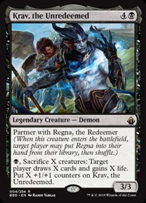 MtG Battlebond Rare Krav, the Unredeemed #4