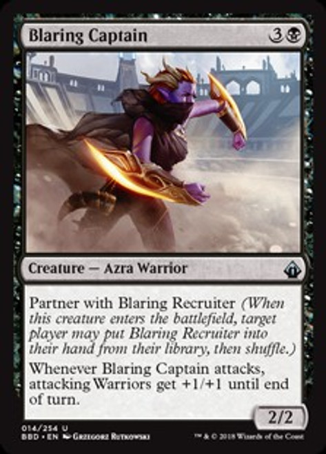 MtG Battlebond Uncommon Blaring Captain #14