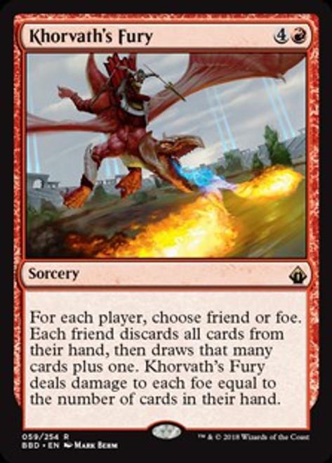 MtG Battlebond Rare Khorvath's Fury #59