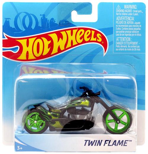Hot Wheels Twin Flame Die-Cast Motorcycle