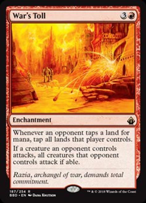 MtG Battlebond Rare War's Toll #187