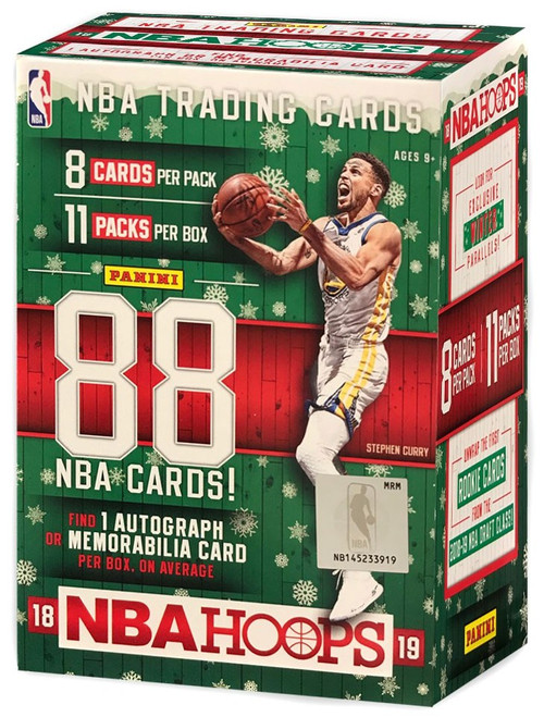 NBA Panini 2018-19 HOLIDAY Hoops Basketball Trading Card BLASTER Box [11 Packs, 1 Autograph OR Memorabilia Card!]