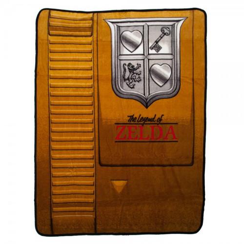 The Legend of Zelda Zelda Gold Cartridge Fleece Throw Apparel