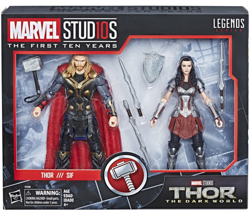 Thor: The Dark World Marvel Studios: The First Ten Years Marvel Legends Lady Sif & Thor Action Figure 2-Pack