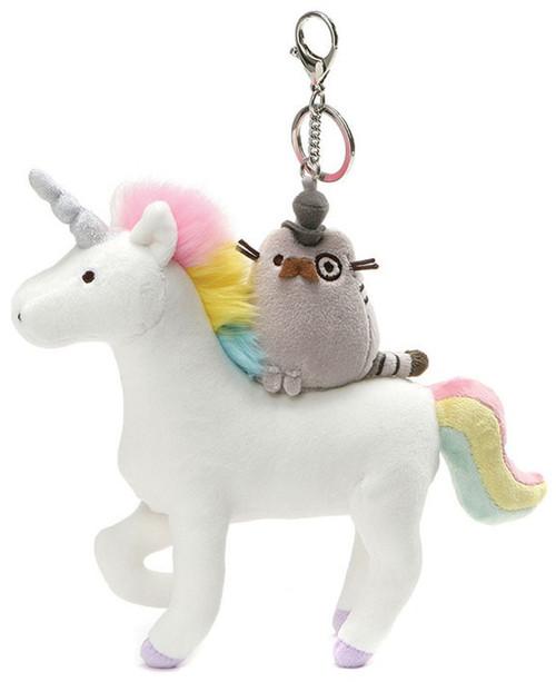 Pusheen Fancy Unicorn 8.5-Inch Plush Keychain