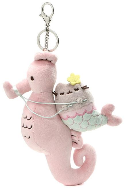 Pusheen Mermaid Seahorse 8.5-Inch Plush Keychain