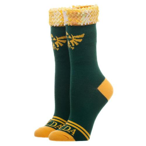 The Legend of Zelda Zelda Sequin Cuff Junior Crew Sock