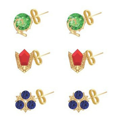 The Legend of Zelda Zelda Stone Stud Earrings 3-Pack