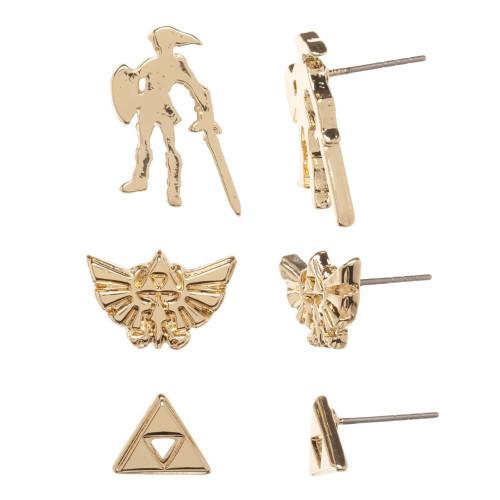 The Legend of Zelda Zelda Metal Stud Earrings 3-Pack