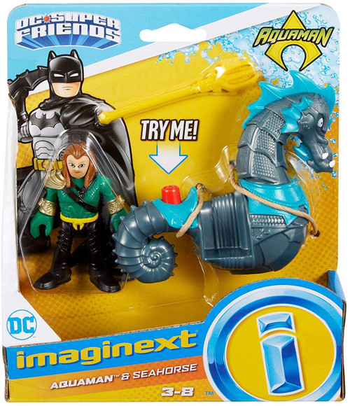 Fisher Price DC Super Friends Imaginext Aquaman & Seahorse Figure Set [Gray Seahorse]