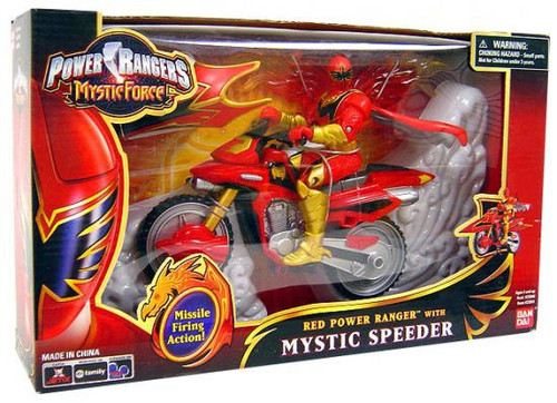Power Rangers Mystic Force Red Power Ranger with Mystic Speeder Action Figure [Damaged Package]