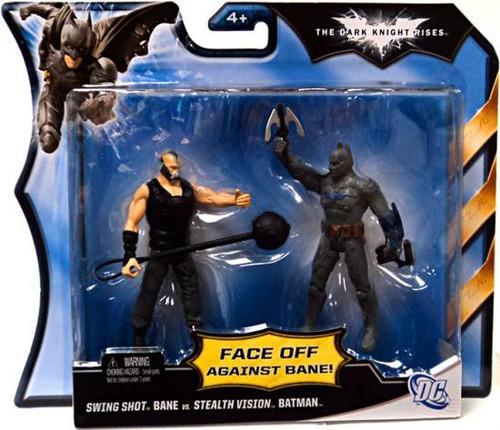 The Dark Knight Rises Swing Shot Bane Vs. Stealth Vision Batman Action Figure 2-Pack [Damaged Package]