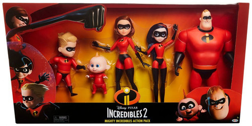 Disney / Pixar Incredibles 2 Mighty Incredibles Action Pack Exclusive 12-Inch Figure 5-Pack