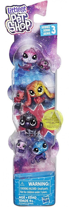 Littlest Pet Shop Cosmic Friends Black Hole Figure 7-Pack