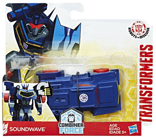 "Transformers Robots in Disguise 1 Step Changers Soundwave 4.25"" Action Figure [Combiner Force]"