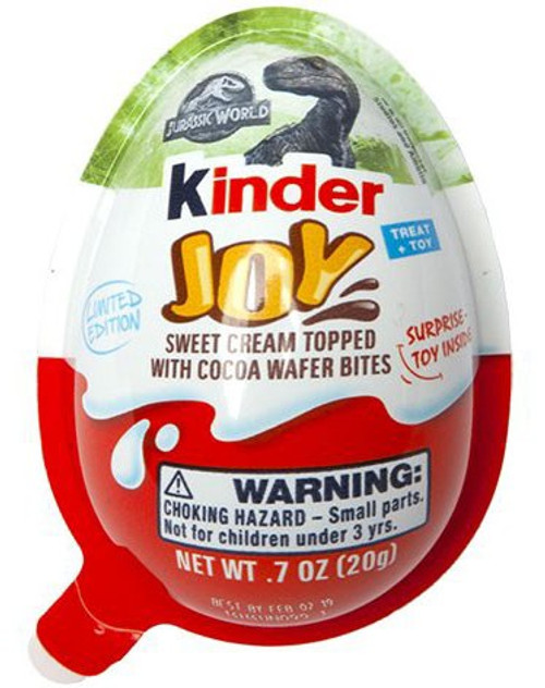 Kinder Joy Jurassic World Chocolate Surprise Egg [Limited Edition]