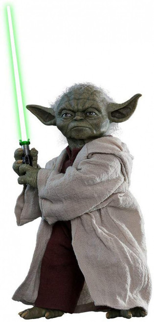 Star Wars Attack of the Clones Movie Masterpiece Yoda Collectible Figure MMS495