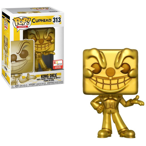 Funko Cuphead POP! Games King Dice Exclusive Vinyl Figure #313 [Gold, Limited Edition]
