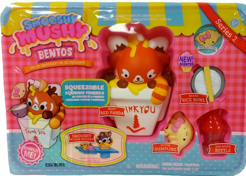 Smooshy Mushy Bentos Series 2 Riley Red Panda Playset