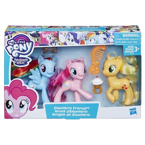 My Little Pony Equestria Girls Pinkie Pie, Rainbow Dash & Applejack Friends 3-Pack