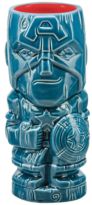 Marvel Geeki Tiki Captain America 7-Inch Tiki Glass