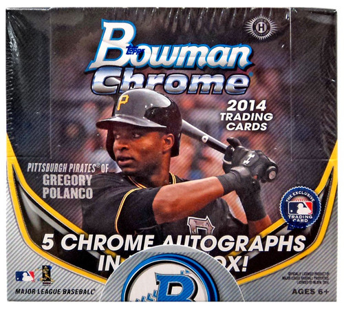 MLB Topps 2014 Bowman Chrome Baseball Trading Card JUMBO HOBBY Box [12 Packs]