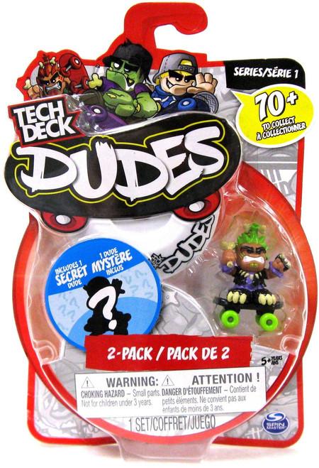 Tech Deck Dudes Raging Reggie 1-Inch Mini Figure 2-Pack