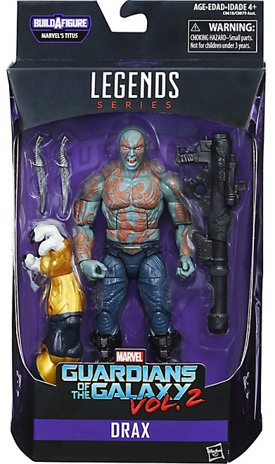 Guardians of the Galaxy Vol. 2 Marvel Legends Titus Series Drax Action Figure [Loose]