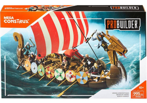 Mega Construx Viking Longship Raid Set [Damaged Package]