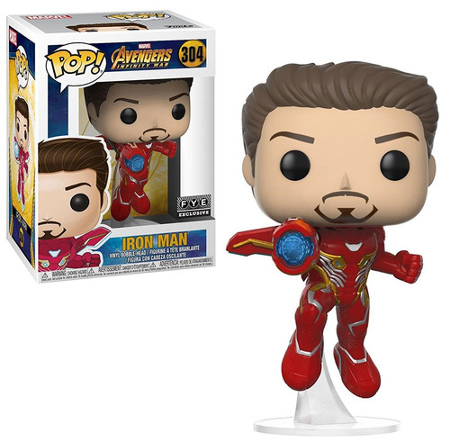 Funko Marvel Universe Avengers Infinity War POP! Marvel Iron Man Exclusive Vinyl Figure #304 [Unmasked Exclusive, Damaged Package]