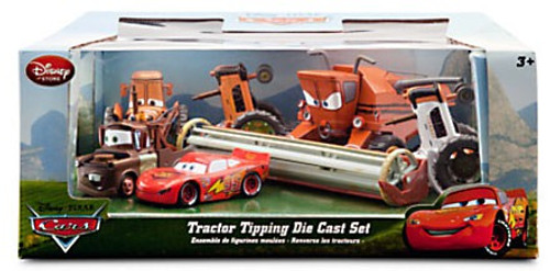 Disney / Pixar Cars Tractor Tipping Exclusive Diecast Car Set [Damaged Package]