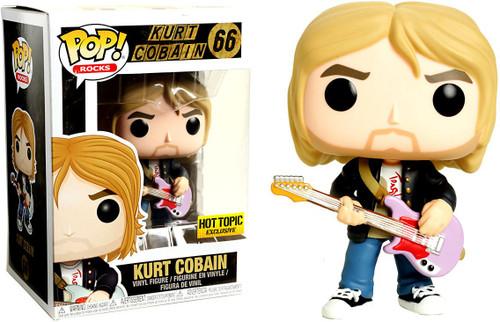 Funko Nirvana POP! Rocks Kurt Cobain Exclusive Vinyl Figure #66 [Black Sweater, Pink Guitar, Damaged Package]