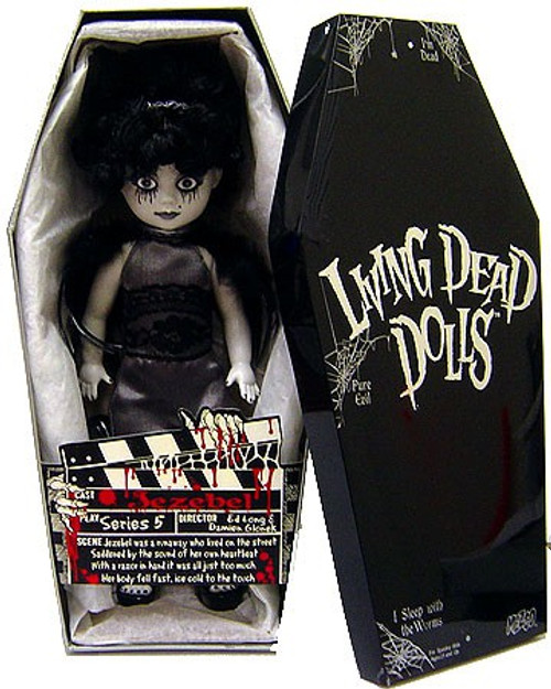 Living Dead Dolls Jezebel 10-Inch Doll [Black & White, Damaged Package]