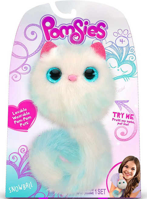 Pomsies Snowball Plush Toy