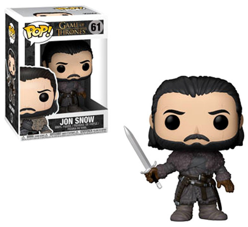 Funko Game of Thrones POP! TV Jon Snow Vinyl Figure #61 [Beyond the Wall, Damaged Package]