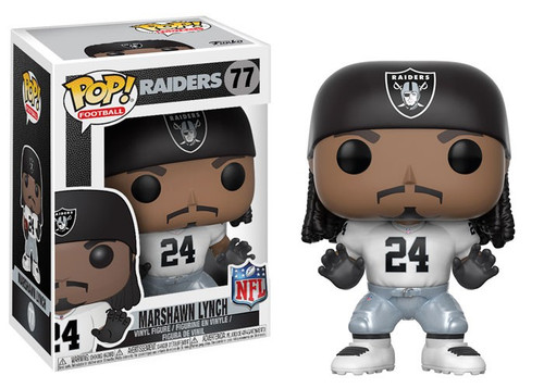 Funko NFL Oakland Raiders POP! Sports Football Marshawn Lynch Vinyl Figure [White Jersey, Damaged Package]