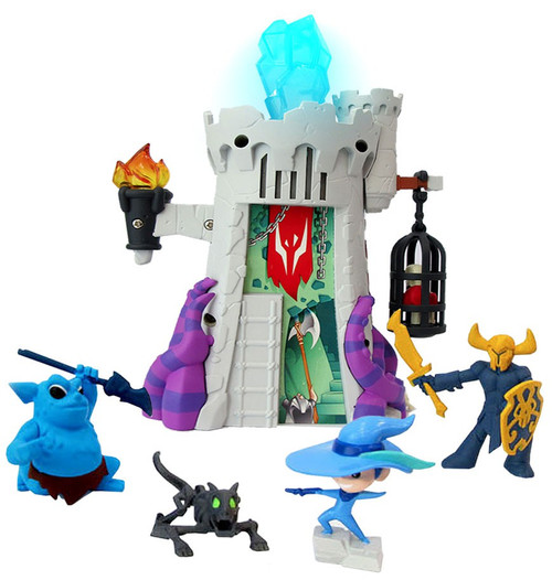 Of Dragons, Fairies & Wizards Gray Wizard Tower [Damaged Package]