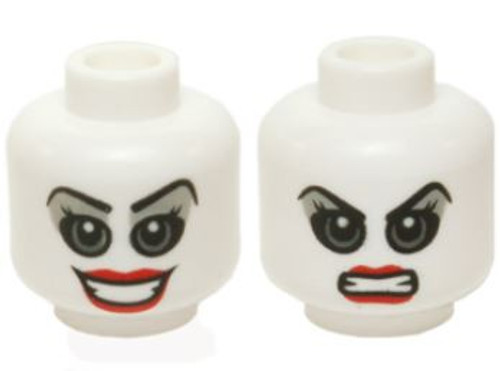LEGO Batman White Harley Quinn Minifigure Head [Dual-Sided Print Loose]