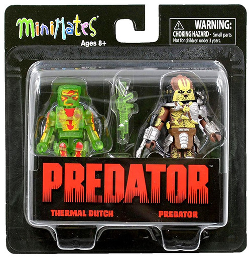 Minimates Series 3 Thermal Dutch & Predator 2-Inch Minifigure 2-Pack