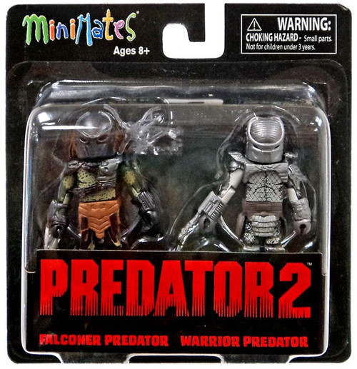 Predator 2 Minimates Series 3 Falconer Predator & Warrior Predator 2-Inch Minifigure 2-Pack
