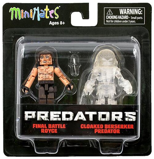 Predators Minimates Series 3 Final Battle Royce & Cloaked Berserker Predator 2-Inch Minifigure 2-Pack