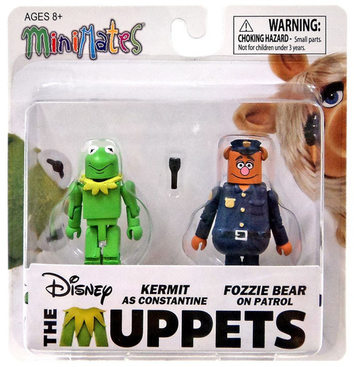 The Muppets Minimates Series 1 Kermit as Constantine & Fozzie Bear on Patrol 2-Inch Minifigure 2-Pack
