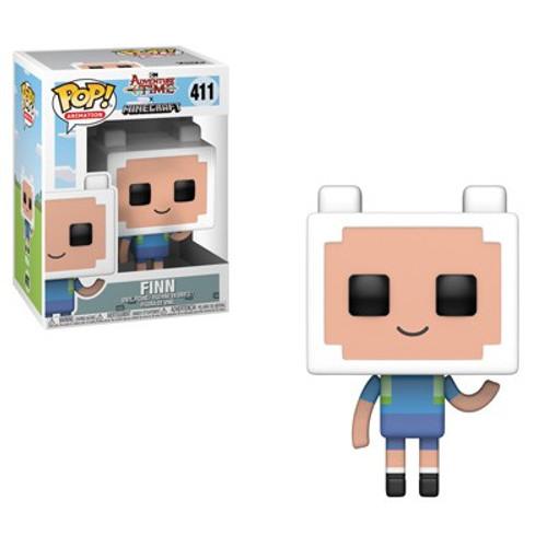 Funko Adventure Time POP! TV Finn Vinyl Figure #411 [Minecraft]