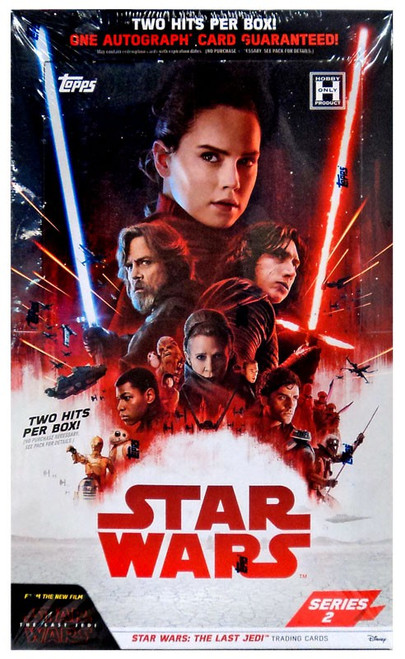 Star Wars Topps Series 2 The Last Jedi Trading Card HOBBY Box [24 Packs, 2 Hits!]