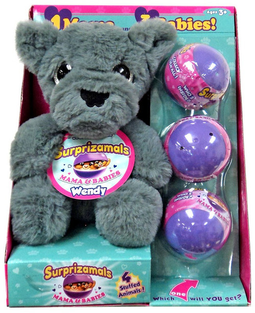 Surprizamals Mama & Baby Wendy Set [Wolf Plush & 3 Mystery Packs]
