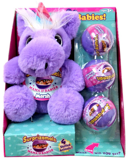 Surprizamals Mama & Baby Marsh Set [Unicorn Plush & 3 Mystery Packs]