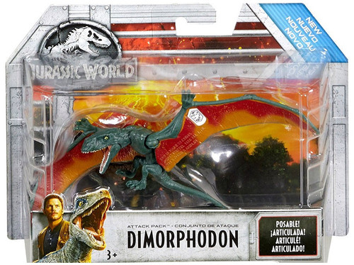 Jurassic World Fallen Kingdom Attack Pack Dimorphodon Action Figure [Green & Orange]
