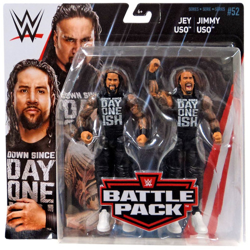 WWE Wrestling Battle Pack Series 52 Jey Uso & Jimmy Uso Action Figure 2-Pack