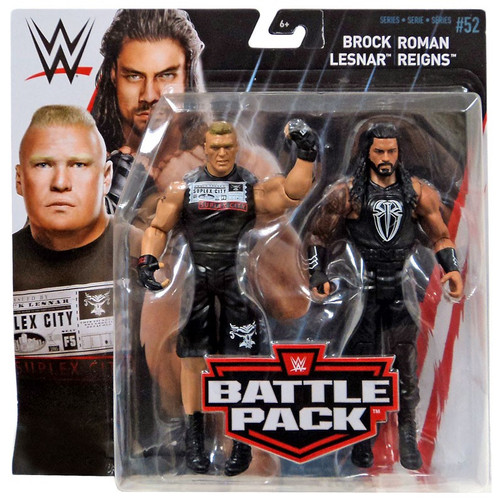 WWE Wrestling Series 52 Battle Pack Brock Lesnar & Roman Reigns Action Figure 2-Pack