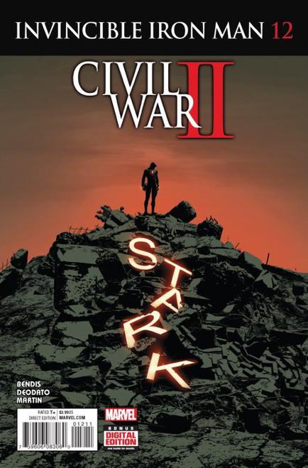 Marvel Comics Invincible Iron Man Vol. 2 #12 Civil War II Comic Book